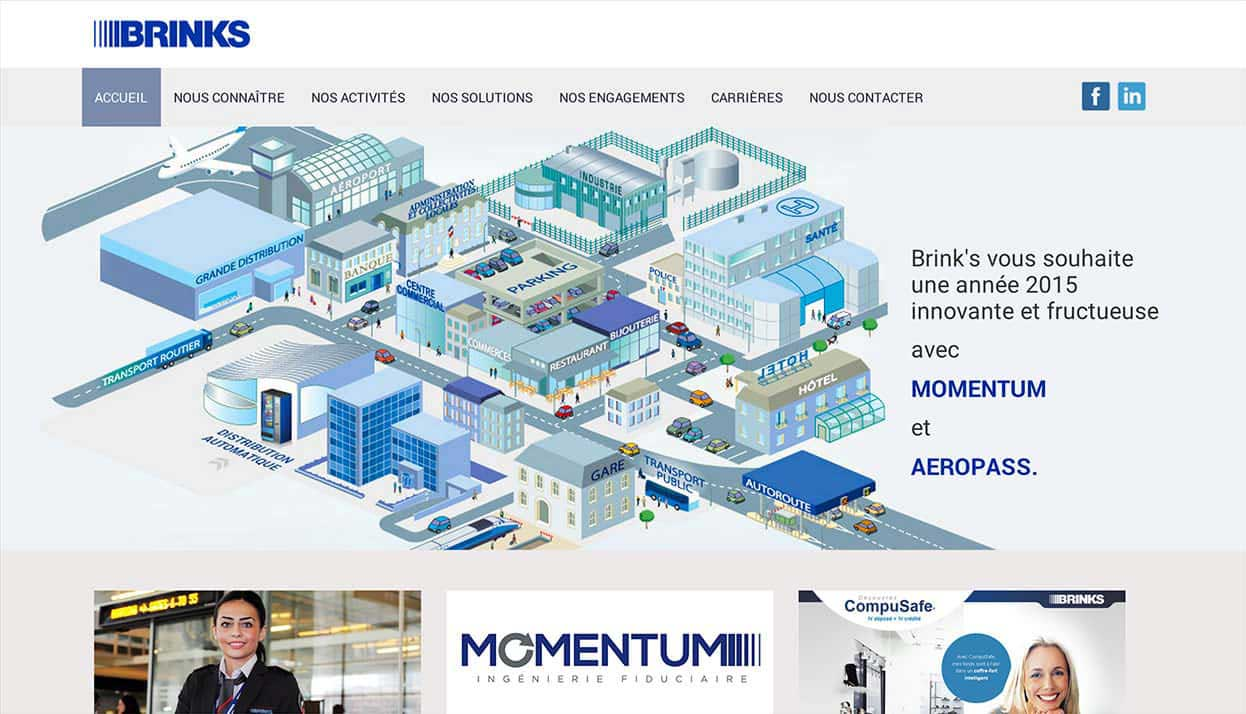 Brinks home page