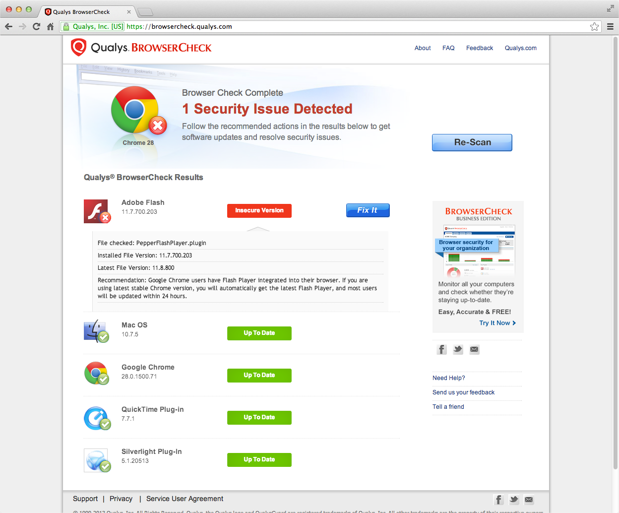 Free Browser Security Check For Your Pc Qualys Inc