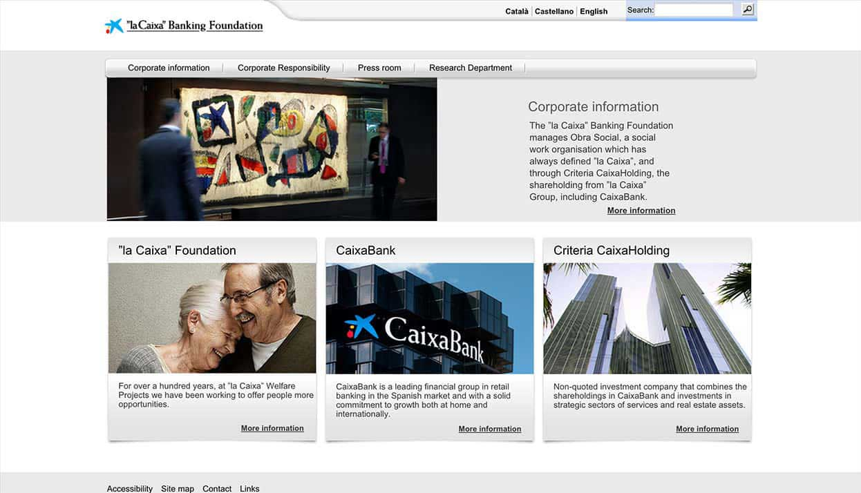 CaixaBank Home Page