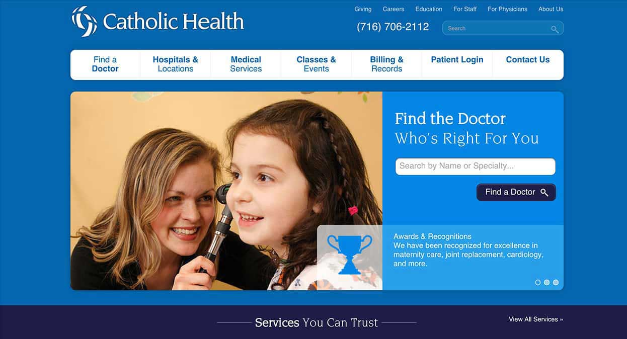 Catholic Health System Home Page