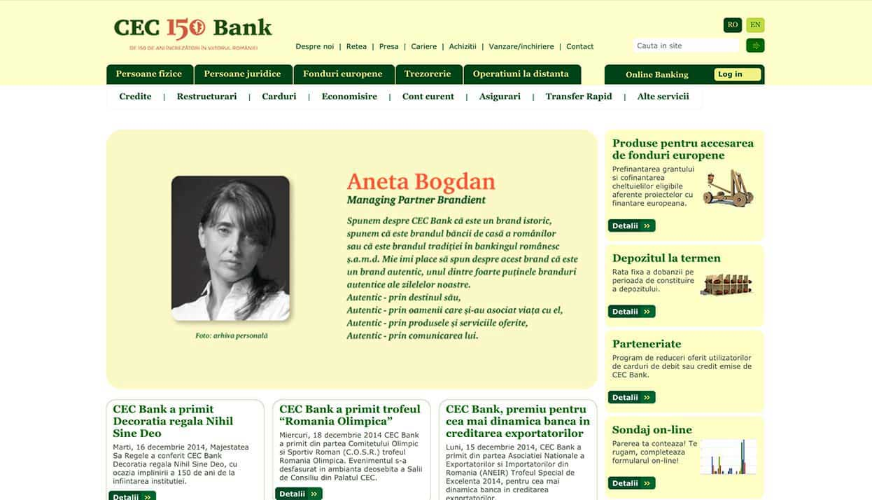 CEC Bank home page