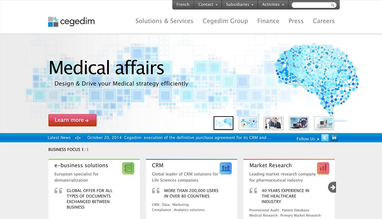 Cegedim Home Page