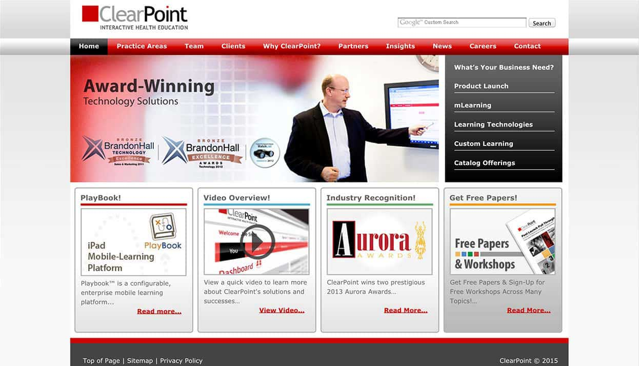ClearPoint home page