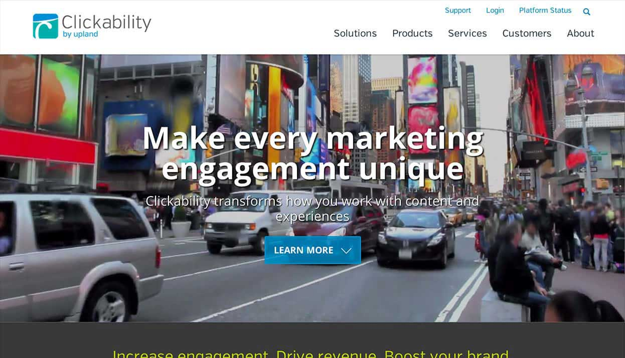Clickability home page