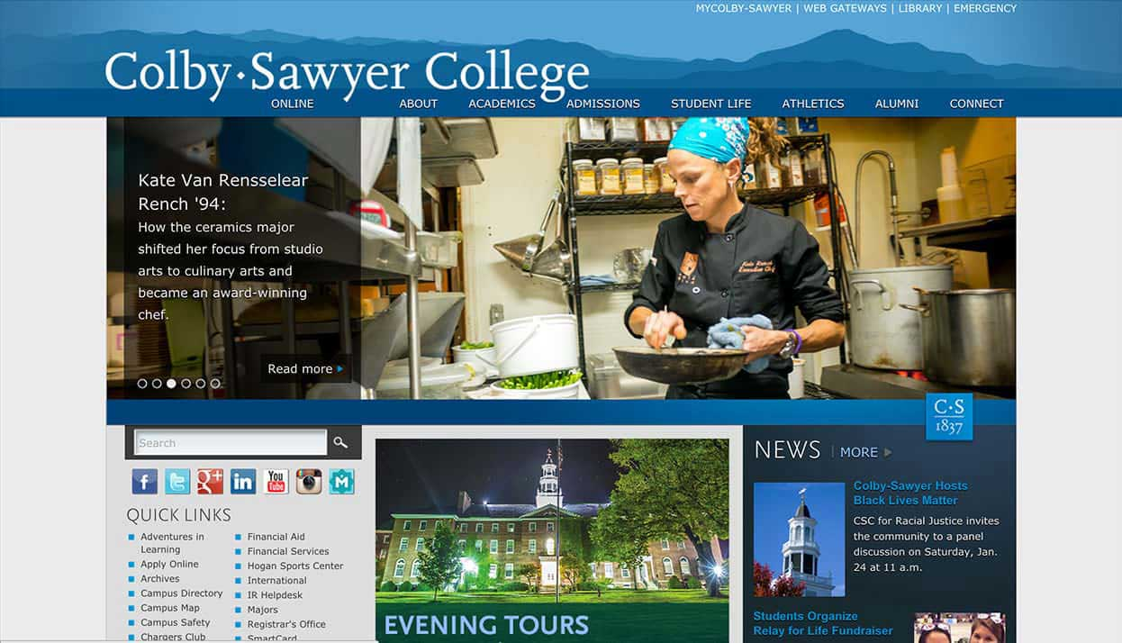 Colby-Sawyer College home page