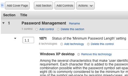 Password Management Screenshot