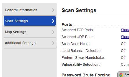 Scan Options Screenshot