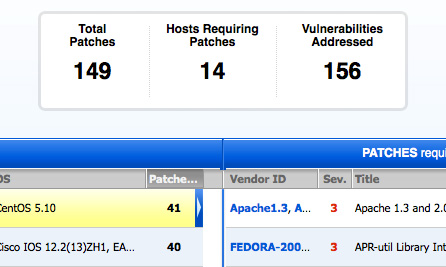 Patch Report Screenshot