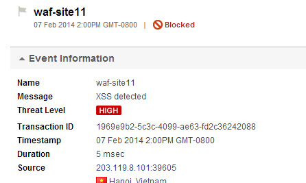 Threat Detection Screenshot