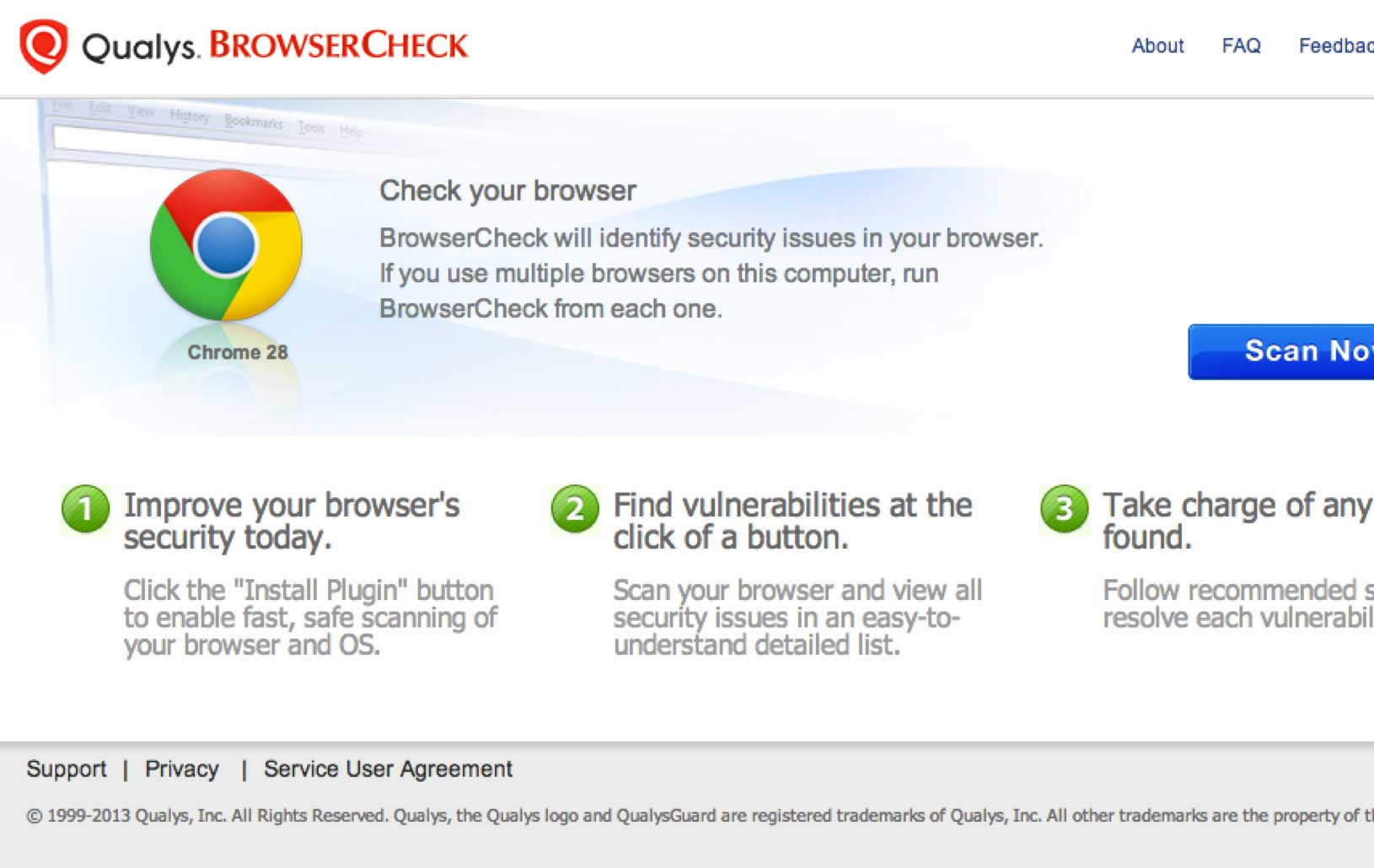 Free Browser Security Check for your PC | Qualys, Inc