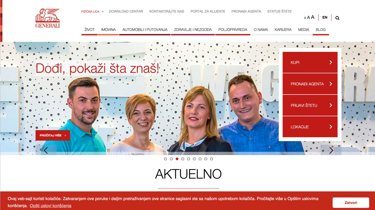Generali home page