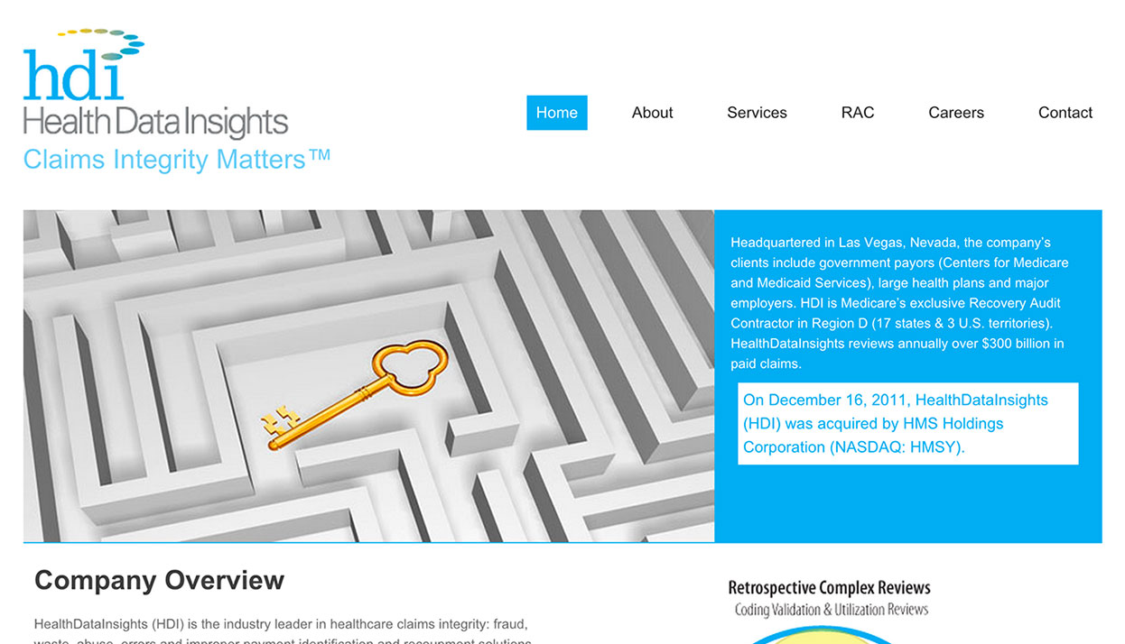 Health Data Insights home page