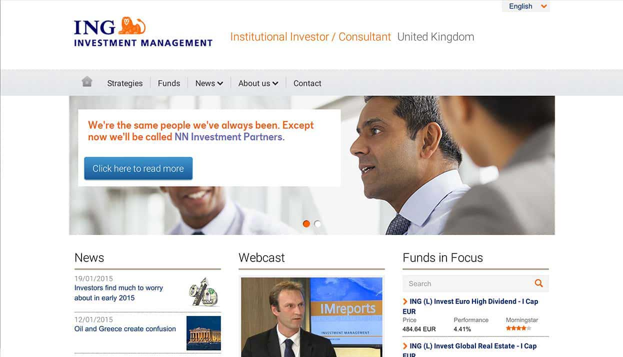 ING Bank Singapore home page