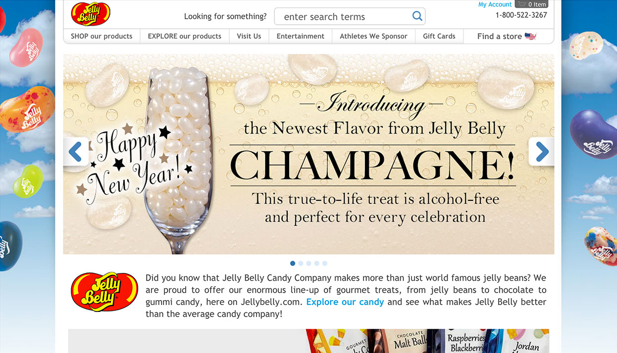 Jelly Belly Candy Company home page