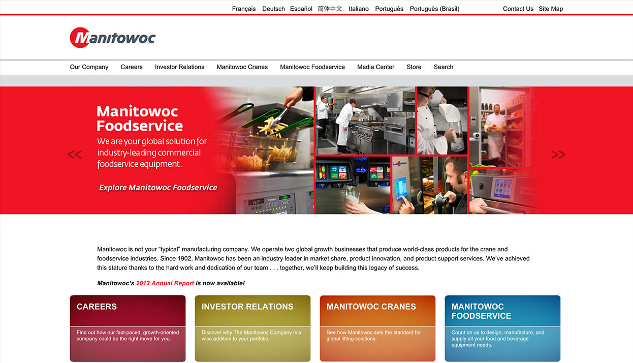 Manitowoc home page