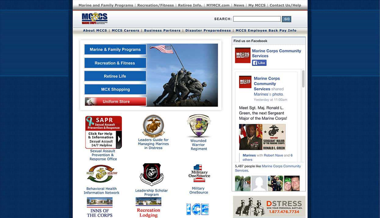Marine Corps Community Services home page