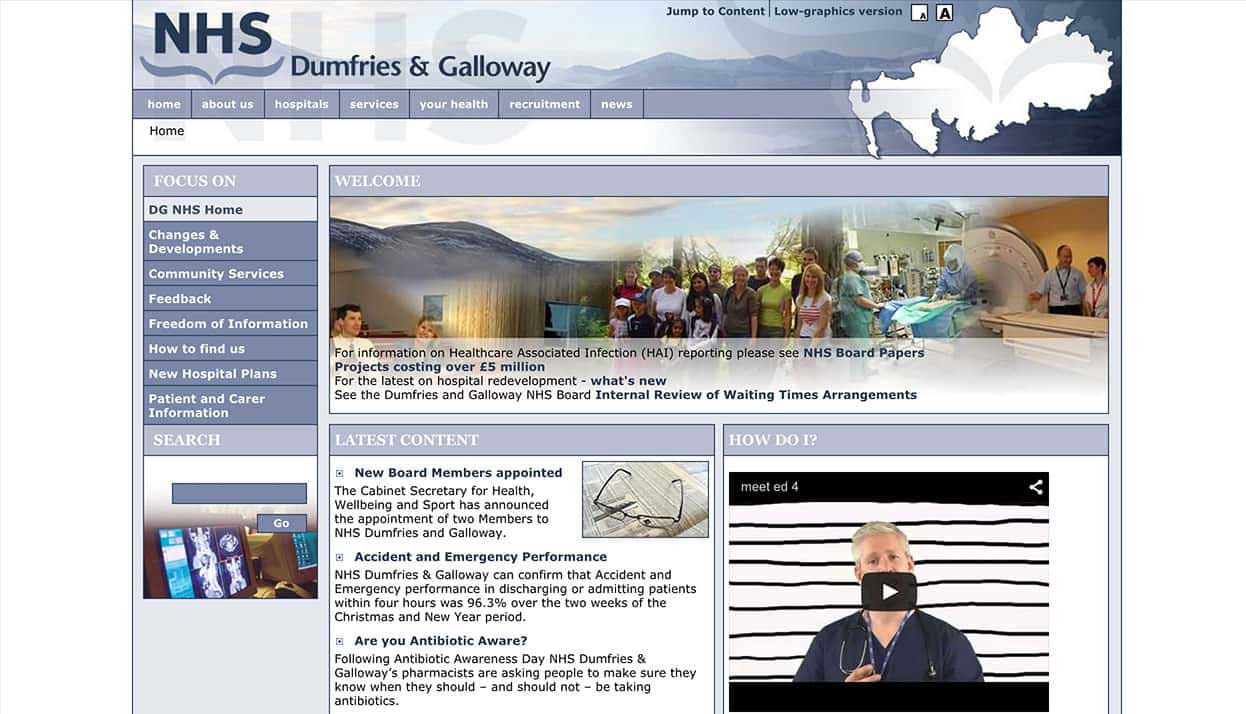 NHS Dumfries and Galloway Home Page