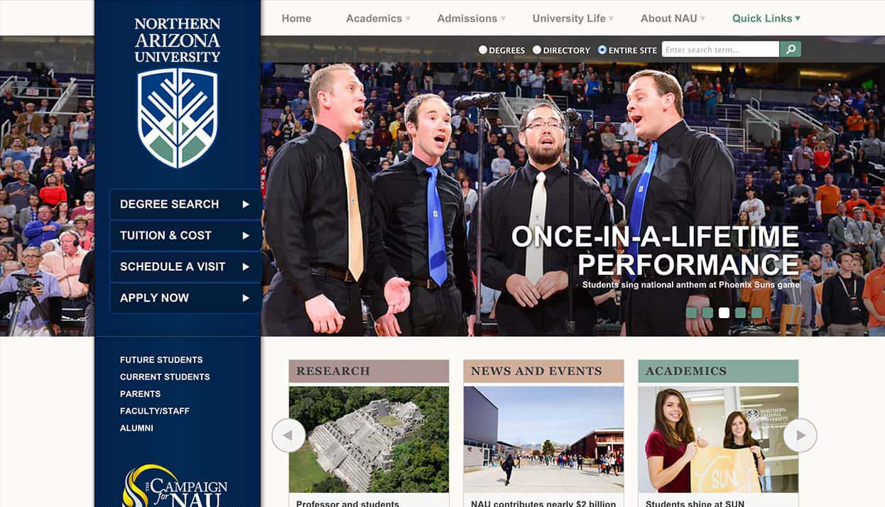 Northern Arizona University Home Page