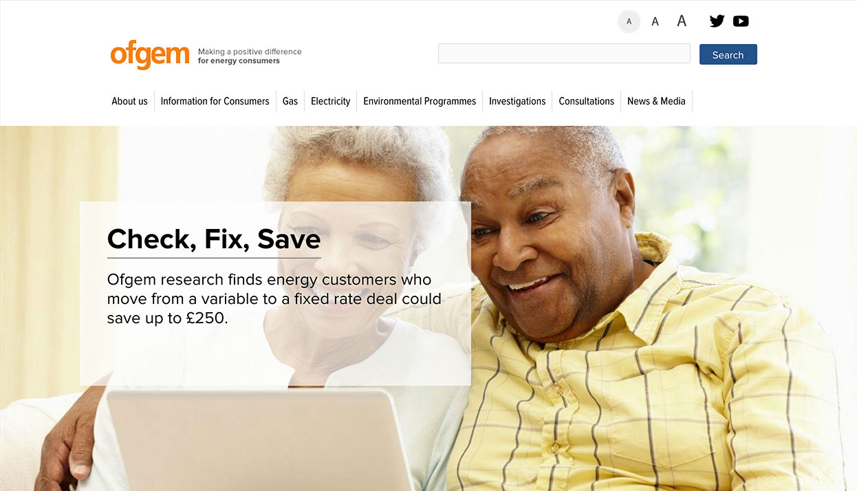 Ofgem home page