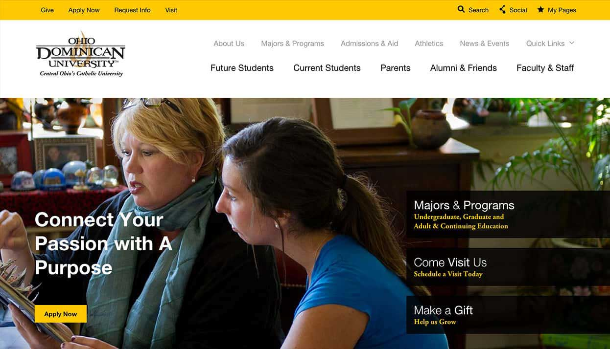 Ohio Dominican University home page