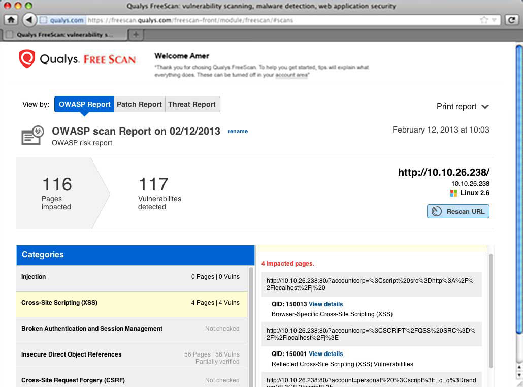 OWASP Screenshot
