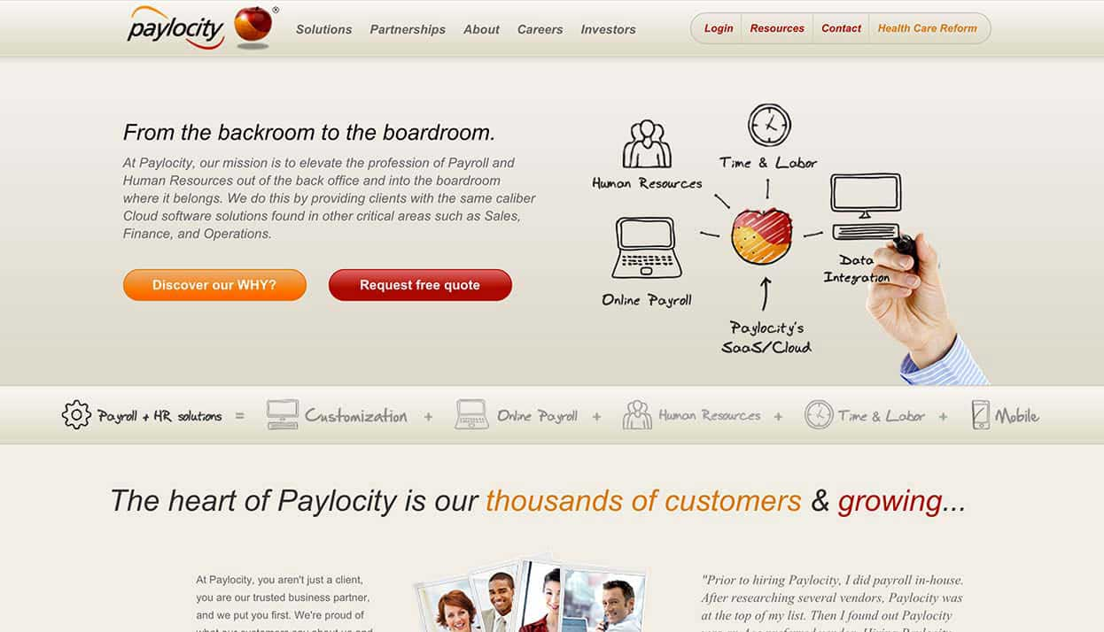 Paylocity home page