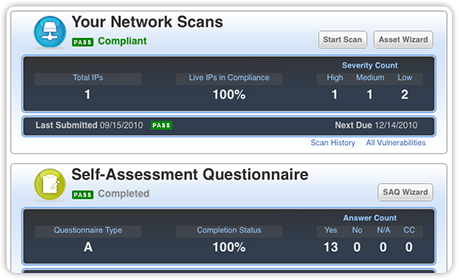 Qualys PCI Compliance Network Scans Screenshot