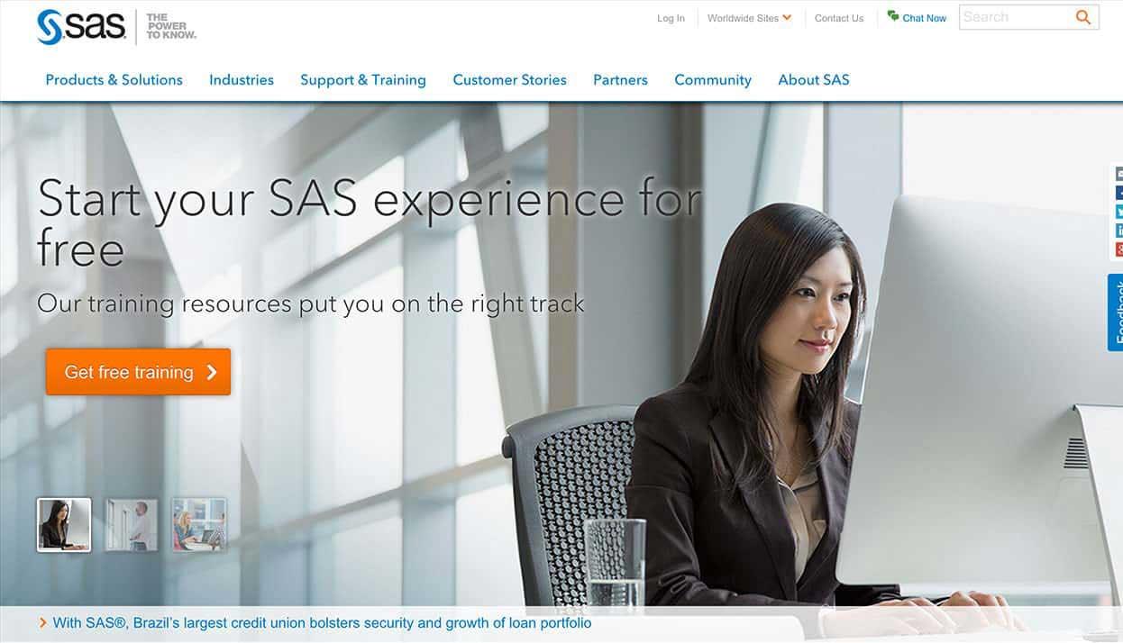 SAS home page