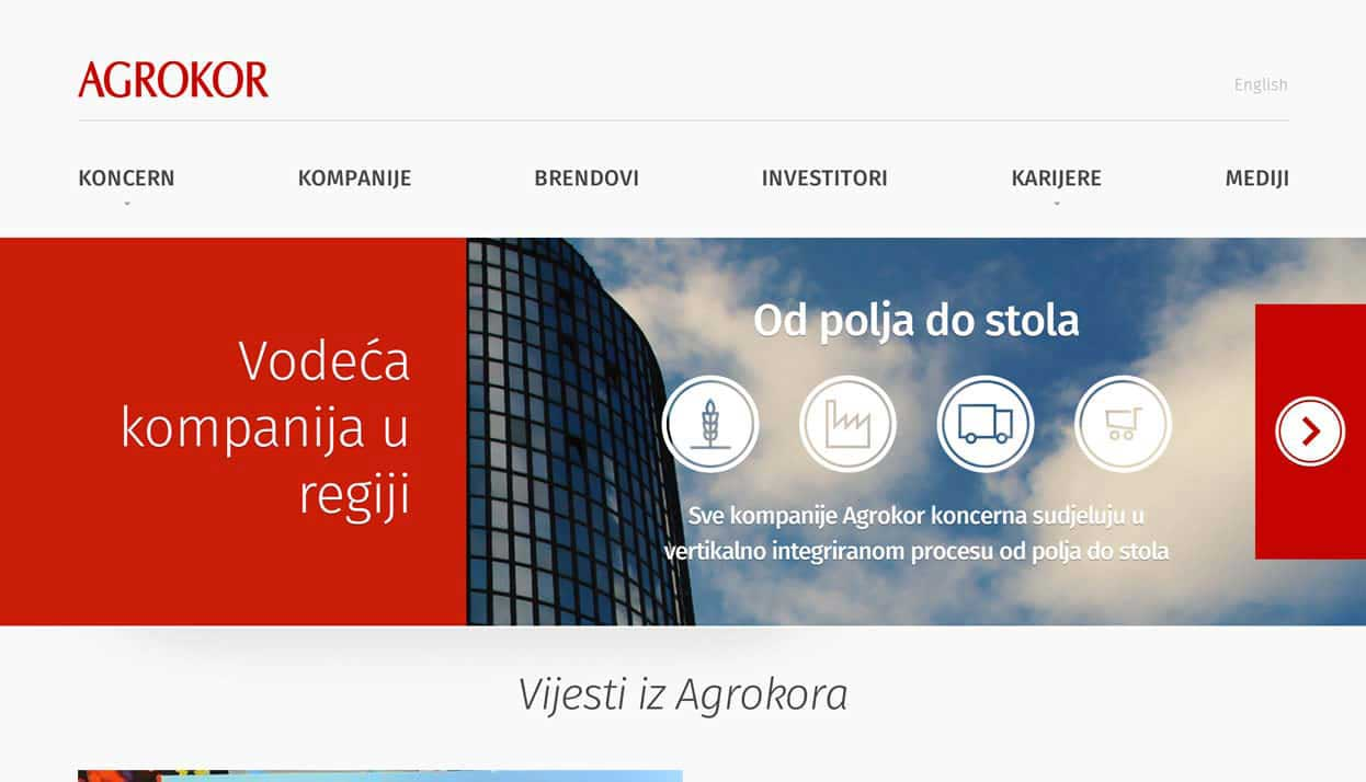 Agrokor home page