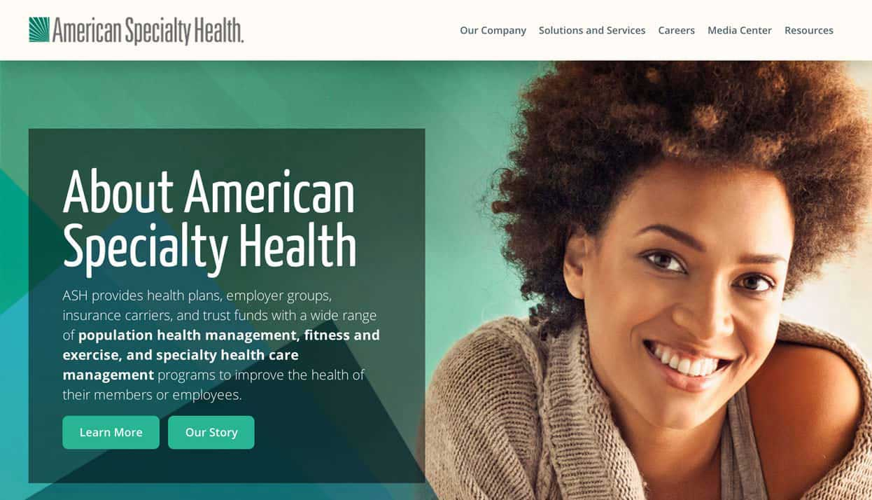 American Specialty Health home page