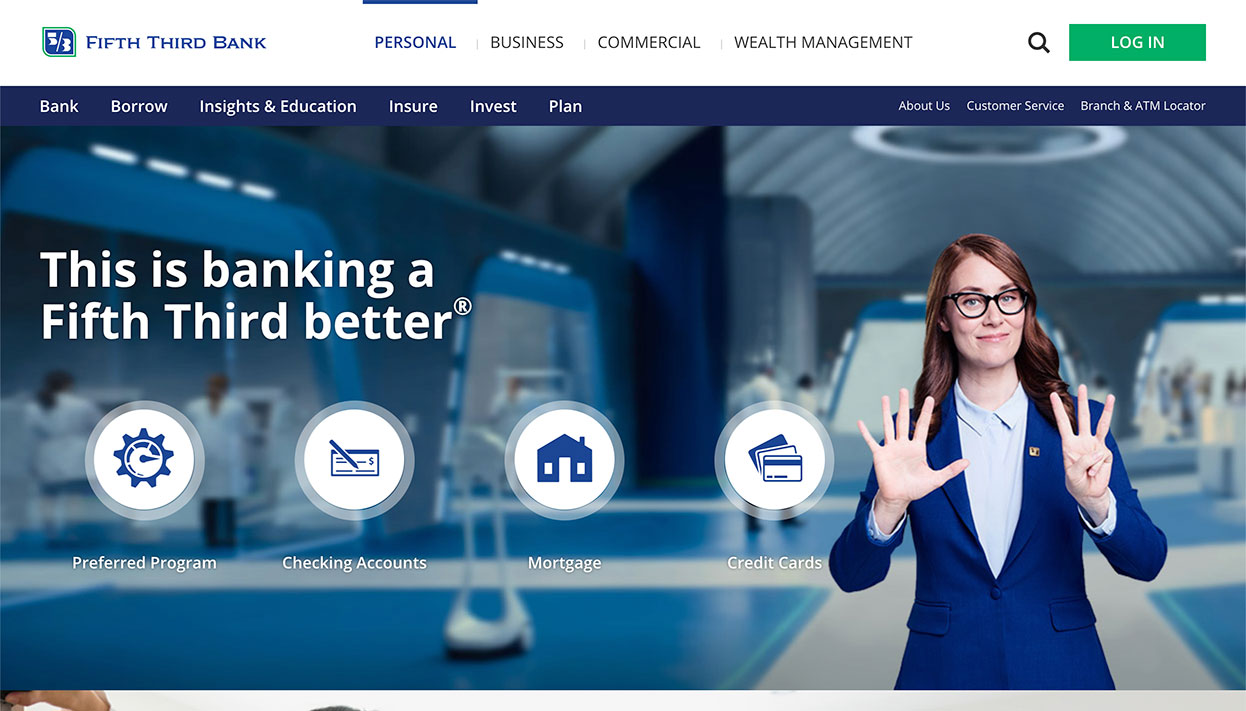 Fifth Third Bancorp home page