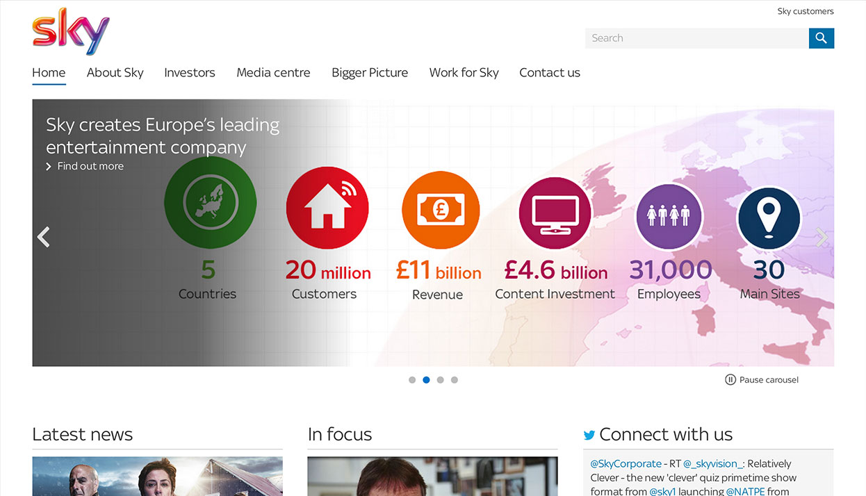 BSkyB Home Page