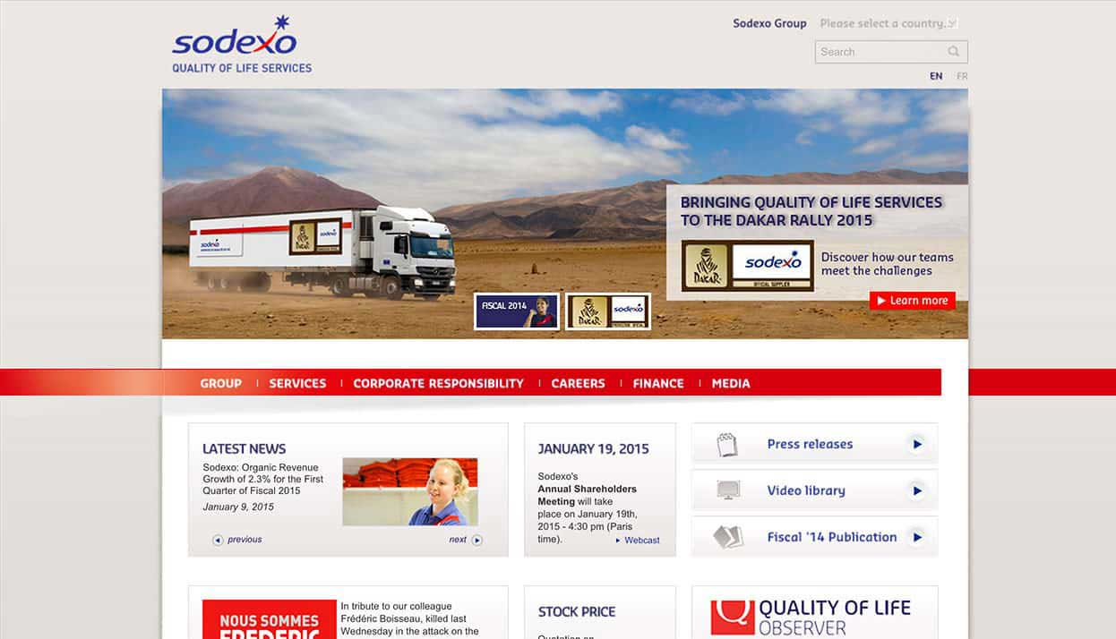 Sodexo Home Page