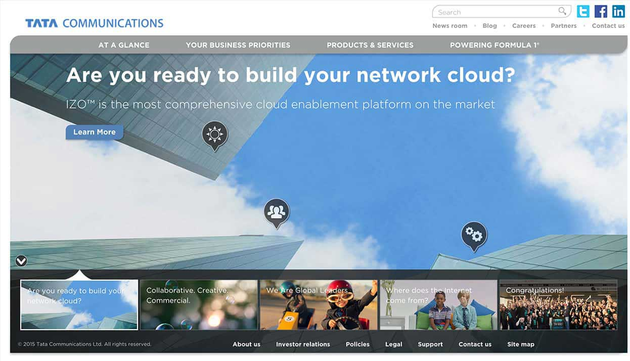 Tata Communications Limited home page
