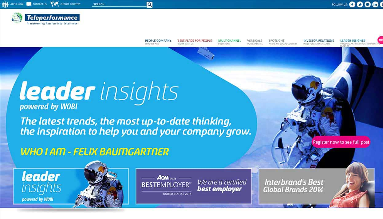 Teleperformance Colombia home page