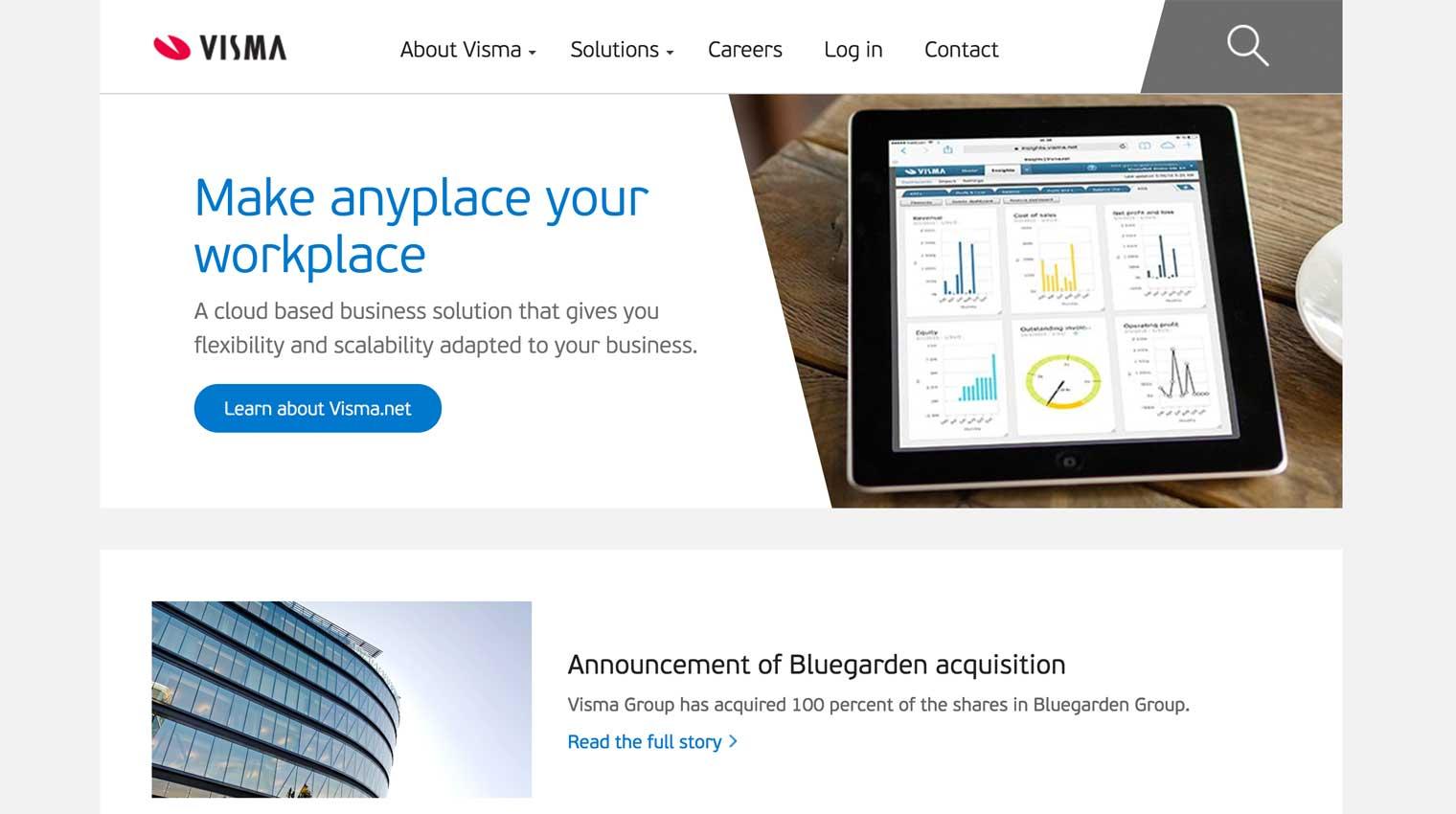 Visma home page