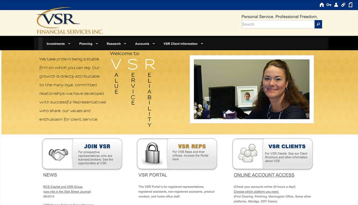 VSR Financial Services, Inc. home page