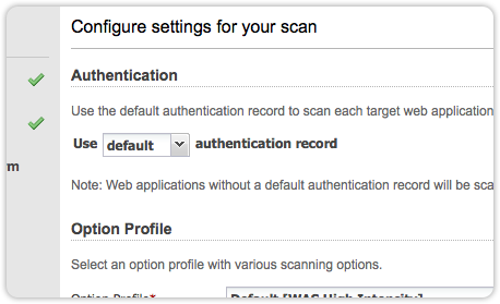 Qualys Web Application Scanning Catalog Screenshot